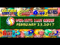 PCSO LOTTO RESULTS FEBRUARY 23, 2017 (EZ2, SWERTRES, 6D, 6/42 & 6/49) Lotto Results, Positive Affirmations, Pop Tarts, Work On Yourself, Snack Recipes, Youtube, February 8, Snack Mix Recipes, Appetizer Recipes