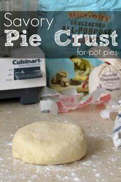 Savory Pie Crust for Pot Pies - takes less than 5 minutes to put together!