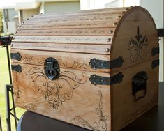 Victorian Pirate Chest - Front by CrystalKittyCat.deviantart.com