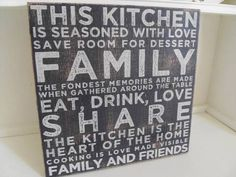 THIS KITCHEN IS SEASONED WITH LOVE BLACK WOODEN PLAQUE CHIC N SHABBY BY SPLOSH