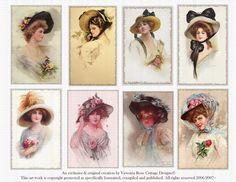 Victorian Ladies Series Hats Vintage Attic by Victoriarosecottage