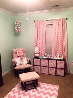 Ansley Rae's nursery  mint pink and gold