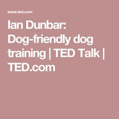 Ian Dunbar: Dog-friendly dog training | TED Talk | TED.com