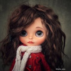 Blythe Doll Fashionable Fabric Dress Decorative Toy Pretty Art Collectible Character Display Companion Blythe Doll Home Decor Birthday Gift Pretty Dolls, Beautiful Dolls, Ooak Dolls, Blythe Dolls, Back Painting, Doll Home, Sleepy Eyes, Cute Cartoon Wallpapers, Little Doll