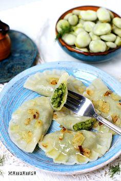 Polish Recipes, Polish Food, Ravioli, Pierogi, Dumplings, Vegan Vegetarian, Camembert Cheese, Food And Drink, Veggies