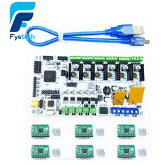promo 3d printer motherboard rumba mpu rumba optimized version control board with 6pcs a4988 step and 6pcs #3d #scanner
