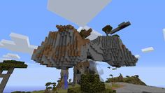 Orphea2012 Youtube et Minecraft: Minecraft   Une île volante dans la zone magnifiqu...