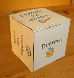 Get kids moving with this activity cube in Spanish. Just roll the cube, read the instructions and do the action. Five different printable cubes for kids learning Spanish.