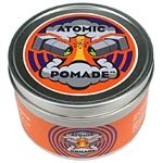 Atomic Pomade is a high sheen and light to medium hold petrolatum based pomade.