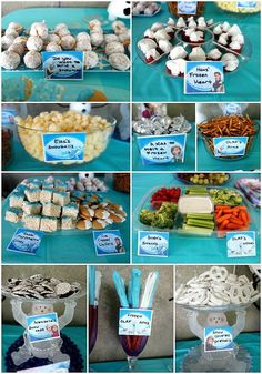 Frozen Birthday Party Decorations, Food, Games, Printables Recipes new food games Elsa Birthday Party, Frozen Birthday Theme, Frozen Themed Birthday Party, 6th Birthday Parties, Birthday Party Decorations, Party Favors, 4th Birthday, Birthday Party Foods, Princess Birthday Party Games