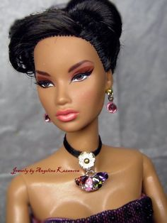 """Handmade doll jewelry set necklace earrings fits 11.5/"""" doll 550A"""