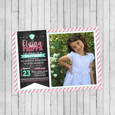CTR Girl Baptism Invitation  LDS Baptism by SweetCottonPaperie
