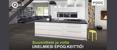 Keittiötieto.fi | Keittiöremontti helpommaksi #epoq #keittiö #kampanja 2013 Living Room Kitchen, Home Decor Kitchen, Cuisines Design, Home Staging, Interior Design Living Room, Townhouse, Kitchen Cabinets, Cottage, Bedroom