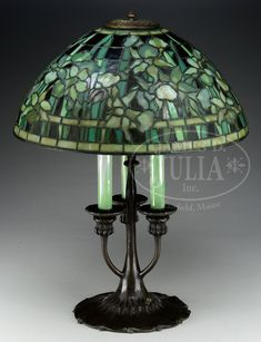 Tiffany Lamp with Candlestick base