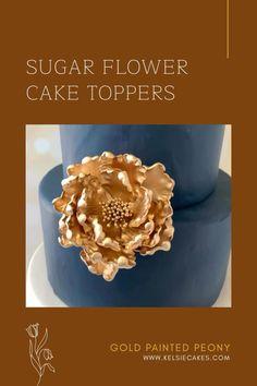 Diy Wedding Cake, Unique Wedding Cakes, Wedding Cake Toppers, Sugar Flowers, Cake Flowers, Peony Cake, Flower Cake Toppers, Wilton Cake Decorating, Couture Cakes