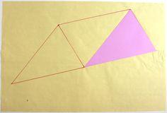 Anto Rabzas / Serie Icebergs / Poligon 01 PA. 1 / 2015 Collage y tinta sobre papel de arroz 40 x 50 cm.