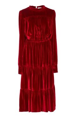 Medium raquel diniz red beatrice midi dress