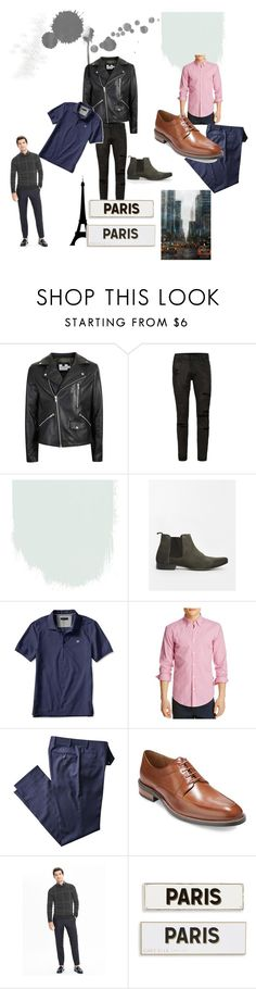 """""""Day and Night"""" by styledbyboogz on Polyvore featuring Topman, Banana Republic, BOSS Hugo Boss, Cole Haan, Rosanna, men's fashion and menswear"""