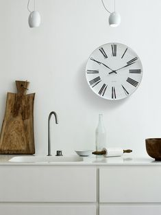 "Arne Jacobsen ""Roman"" wall clock - it carries the nickname ""Roman"" after the dial roman numbers."