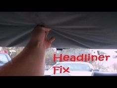 How to fix car's Headliner with Carpet tape --- EASY CHEAP NO GLUE or Spray i checked to see to how much it would cost to fix this professionally and it was . Best Gas Mileage, Car Fix, Car Hacks, Car Prices, Diy Car, Car Cleaning, Cleaning Business, Cleaning Products, Cleaning Hacks