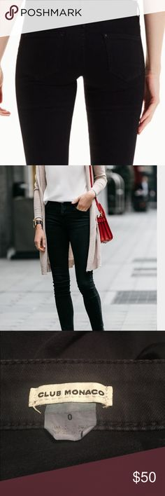Club Monaco black skinny jeans Ankle zip details and mini pocket hidden in the right hip (pictured). Light fading at the seams. GUC Club Monaco Jeans Skinny