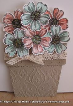 Stamp & Scrap with Frenchie: Flower Pot with Flower Shop Video