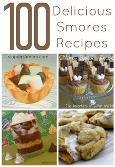 100 delicious smores recipes.. UMM YEA. Smores is my favorite food group.