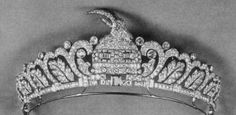 Ram of Skanderberg and Oak Leaf Tiara, Albania (1938; Osterreicher Jewelers; diamonds, platinum). Made for the princesses of Albania, sisters to King Zog I. Similar to a tiara made for Queen Geraldine.