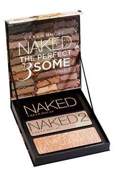 Free shipping and returns on Urban Decay Naked: The Perfect 3Some Vault (Limited Edition) at Nordstrom.com. What it is: Urban Decay introduces Naked: The Perfect 3Some Vault. Since Naked is always best with a partner (or two), Urban Decay loaded this limited-edition set with a trio of their coveted neutral palettes.What it does: With a range of shades and finishes this huge, you'll never run out of options. Go bronze with Naked (the palette that started it all). Channel a more taupe vibe…