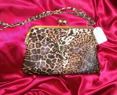Jessica Simpson Leopard Cheetah Print So Lovely Clutch Handbag $39.99