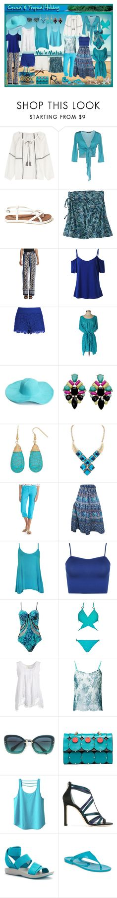 """""""Cruise & Tropical Holiday Capsule"""" by jj-loves-colour ❤ liked on Polyvore featuring Velvet, Le Fate, Hollister Co., Title Nine, Alyx, City Chic, Becca, WithChic, Crown & Ivy and WearAll"""