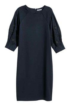Žerzejové šaty - Tmavomodrá - ŽENY | H&M CZ 1