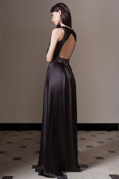 Temperley London Pre Fall 14, Long Mounia V Neck Dress