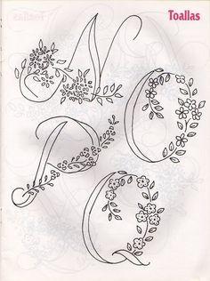 Moldes Para Artesanato em Tecido: Alfabetos para Bordar