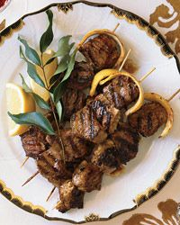 Yogurt-Marinated Lamb Kebabs With Lemon Butter Recipe