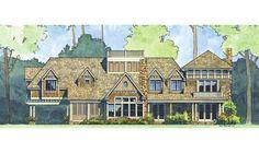 Traditional home design rendering by Stillwater Architecture   #InteriorDesign, #InteriorDecor,  Accenthaus.com