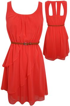 another cute and inexpensive dress! i love that it's 1. in my color scheme, 2. chiffon 3. flowy! and 4. inexpensive! ^_^