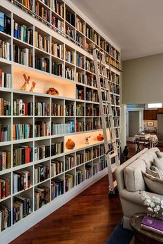Bookshelf Wall Floor To Ceiling Bookshelves.Top 70 Best Floor To Ceiling Bookshelves Ideas Wall . DIY Built In Bookshelves How To Build A Window Seat . Furniture: Floor To Ceiling Bookshelves For Help You . Home and furniture ideas is here Home Library Design, Dream Library, House Design, Library Ideas, Library Wall, Library Ladder, Home Library Decor, Library Bedroom, Library Inspiration