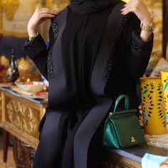 Our best selling for Eid 🖤✨ Iranian Women Fashion, Arab Fashion, Muslim Fashion, Modern Hijab Fashion, Hijab Fashion Inspiration, Mode Abaya, Mode Hijab, Abaya Designs Latest, New Abaya Style