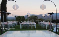 palm springs weddings & events   Lighting by: http://www.eventilluminations.com   Event Design by: http://www.theWEstudio.com