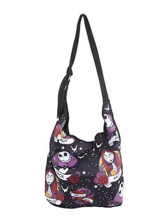 Disney Jack Skellington Sally Nightmare Before Christmas Tattoo Hobo Bag *** Check this awesome product by going to the link at the image. Christmas Purse, Christmas Items, Christmas Clothing, Holiday Clothes, Nightmare Before Christmas Tattoo, Jack The Pumpkin King, Hobo Style, Jack And Sally, White Handbag