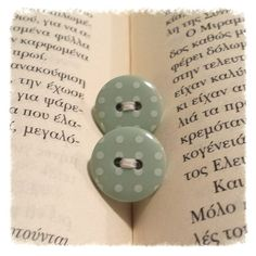 Winter mint on Etsy Button Earrings, Polka Dots, Mint, Button Button, Buttons, My Love, Unique Jewelry, Handmade Gifts, Etsy