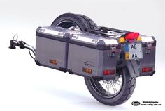 Maybe the only trailer I'd actually consider for a motorcycle. Motorcycle Trailer, Bike Trailer, Motorcycle Camping, Moto Bike, Camping Car, Enduro Motorcycle, Motorcycle Touring, Gs 1200 Bmw, Gs 1200 Adventure