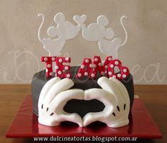 Torta Mickey y Minnie San Valentín
