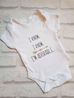 86fbe0927 $8.58 | New Baby | Personalized Onsie | Baby Affiliate Baby Girl Onsies, Baby  Shirts
