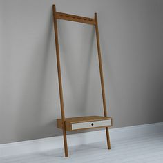 Says Who For John Lewis Why Wood Coat Rack With Drawer