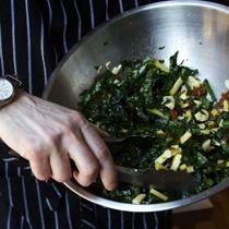 Bacon Brittle and Kale Salad  (I think I like the bacon brittle part more than the kale part ;-)