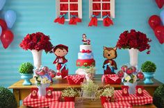 ❤️ 2 Aninhos da Valentina ❤️ #chapeuzinhovermelho #chapeuzinho #bday #party#kikidsparty#pirulitei#festas#maedemenina
