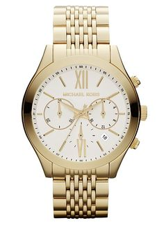Dear Santa, please bring me a Michael Kors gold chronograph watch this year!!