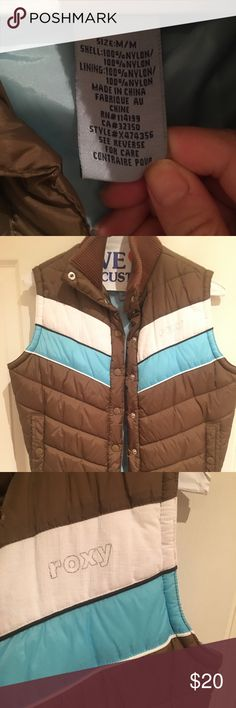 Roxy winter puffer vest never worn Roxy Jackets & Coats Vests